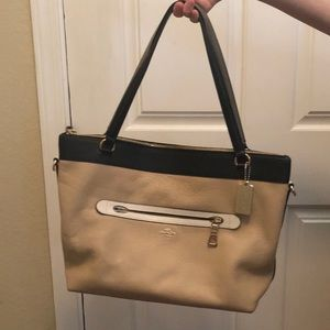Authentic Black and Tan Coach Purse